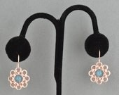 CLOSEOUT Hana Gusari Blossom Earrings - Pink with Angelite