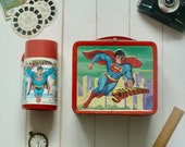 1978 Superman Metal Lunch Box and Thermos