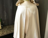 Bridal Cape Hooded Ivory cape