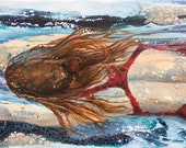 RESERVED 'the gliding swimmer' painting