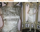 20% OFF Vintage 1960's Dress. Champagne Brocade Cocktail Party Dress. Small