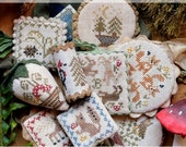 PRE-SALE - Festive Little Fobs Seven, Woodland Edition : Cross Stitch Pattern by Heartstring Samplery