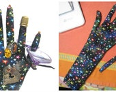 RESERVED for Sharon - 1 Classic & 1 TALL Stars Fabric HAND-Stand ~ Eyeglass Jewelry Holder ~ Ready to Ship