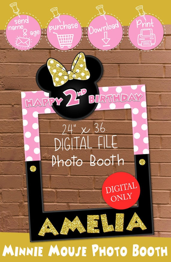 DIGITAL DOWNLOAD Minnie Mouse Pink and Gold 24\