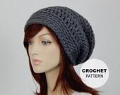 Crochet PATTERN PDF, The Vibe Slouch Beanie, Bulky Slouchy Hat, Winter Hat, Ladies Crochet Hat Pattern, Womens Pattern, MarlowsGiftCottage