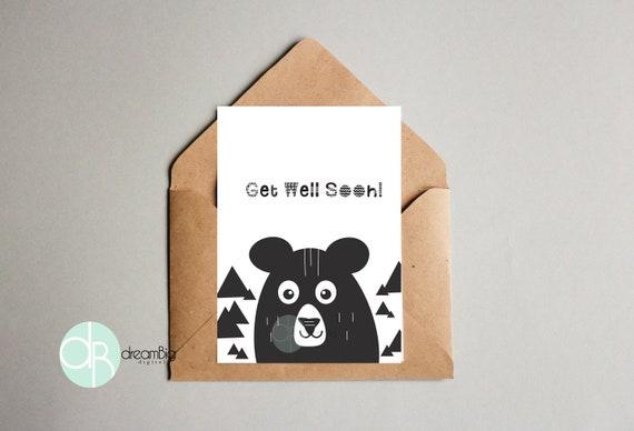 Get well soon scandinavian bear greeting card printable digital il570xn m4hsunfo