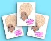 RuPaul Birthday Card •  Drag Race Card  •  RuPaul's Drag Race  •  Drag Queen  •  Greeting Card  •  Condragulations  •  LGBTQ