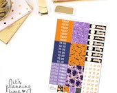 Halloween Add-On Headers, Pattern Headers, and Date Cover Planner Stickers