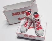 Dolls House Miniature High Top Sneaker Shoes 1/12th scale