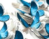 3D butterfly wall art, blue butterflies, blue wedding decor, blue butterfly decor, blue wall decoration, butterfly art, butterfly gift