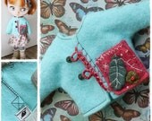 Middie Blythe Doll Outfit / Jacket / Blythe Clothes / OOAK Blythe Clothes