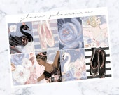 PRE-SALE! SILVER Foiled Swan Lake Full Boxes (Glam Planner Stickers for Erin Condren Life Planner)