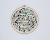 Embroidery Kit - Floral Field - Thread Folk and Lauren Merrick - Artist Series