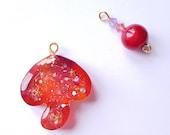 Enchanted Sunset Galaxy Magic Toadstool Mushroom Charm; TN Charm; Key Ring; Bag Charm; Planner Charm