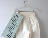 RESERVED Vintage Girdle M   1960s Maidenform White & Ivory Panty Girdle Garters Deadstock