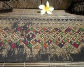 Vintage Laos Skirt Borders Hand Woven