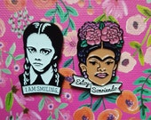 I am Smiling Wednesday and Frida Enamel Pin Set