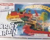 Rollin Fun All Aboard CRAZY TRAIN Vintage 90s Flipping Train Toy Play Set Childrens Railway Track 1994 Rolling Baby Einstein 624