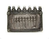 Antique Indian Amulet, Seven Mothers Amulet, (Sapta Matrikas),  Old India Amulet, Rajasthan, High Grade Silver,13.4 Grams, Ethnic and Tribal