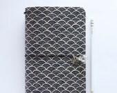 "Japanese cotton fabric Traveler's notebook SEIGAIHA - ""La Copertina"""