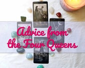 Advice from the Four Queens: A Four Card Tarot Reading Offering Four Different Perspectives on an Issue