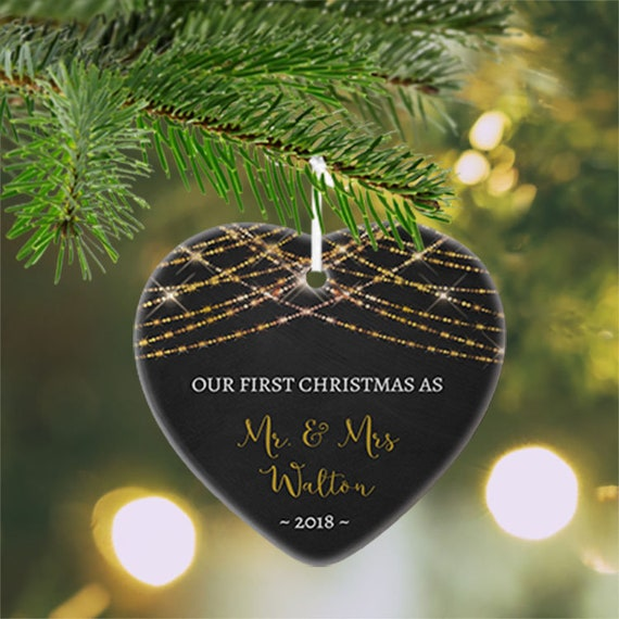 our first christmas as mr mrs ornament couples gift newlywed