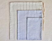 PRE-ORDER: Combo 3 Pack - Organic Bulk Bag, S-M-L, STRIPE set