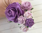 Flower Hair Pins in Shades of Purple for Weddings, Prom, Bridesmaids // Bobby Pin Gift Set // Romantic Bridal Style