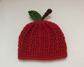 Apple Hat, Newborn Apple Hat, Fall Baby Shower, Crochet Apple Hat, Fall Baby Clothes, Autumn Apple Hat, Festival Clothing, Unisex Boy Girl
