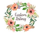 Custom Listing for Megan - Mauve and Ivory Newborn Tieback