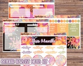 October Harvest Notes Page Kit | Erin Condren Planner Stickers | Horizontal & Vertical | Monthly Notes Page