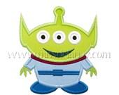 ON SALE Toy Alien Applique Design