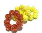 Baby, Toddler, Girls, Teen, Ladies All Bling Sparkle Chunky bracelet - Princess Yellow bracelet - Orange Flower Girl Bracelet - Neon Yellow
