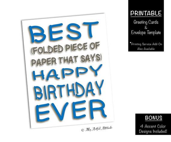 Best Day Ever Printable Birthday Card Friend Cards Funny Boyfriend