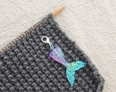 1 Mermaid Stitch Marker. Use as knitting markers and crochet markers. A knit stitch marker.