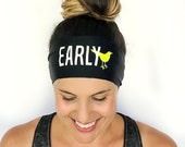 Yoga Headband - Early Bird Print - Running Headband - Fitness Headband - Fitness Apparel - Workout Headband
