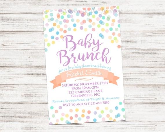 baby shower brunch invitation baby brunch invite gender neutral
