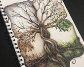 Four Seasons notebook ... spiral bound / gloss cover / 80 ruled sheets