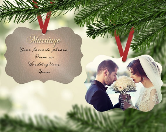 Personalized wedding ornament for couple, Wedding ornament photo ...