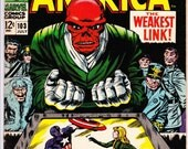 Captain America #103 (1968 1st Series) July 1968    Marvel Comics   Grade F+