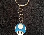 Super Mario Blue Mushroom Key Ring
