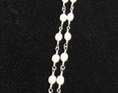 "7.5"" Double Strand Freshwater Pearl Sterling Silver Bracelet"