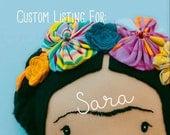 "18"" Studio Frida - Custom Listing for Sara (TingeyandCo)"