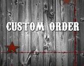 Custom Listing Brass Stencils 5 Inch, Mr. Wolf