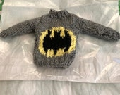 Christmas elf batman inspired jumper, elf clothes, elf girl, elf boy, barbie, action man