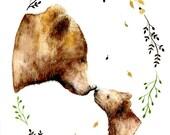 mama bear, woodland nursery, bear, nursery wall art, prints wall art, baby, baby girl, baby shower, nursery decor, teddy bear, wall art