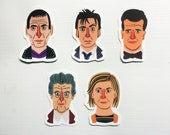Doctor Who Sticker Pack Doctor Who Stickers, The Doctor, Dr Who, 10th Doctor, 13th, Laptop Stickers, Stickers, Sticker Pack, UK