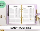 PERSONAL WIDE Size Ring Bound -  Daily Routines Planner