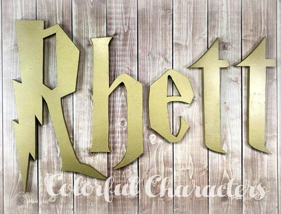 Potter Wizard inspired painted letters, made to order, wooden ...