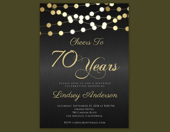 Any age cheers to 70 years invitations 70th birthday invitations il570xn filmwisefo